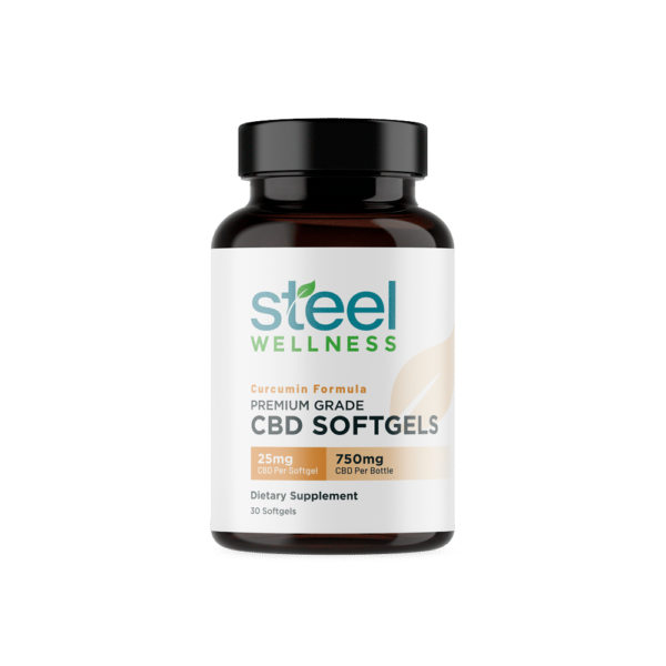 CBD Softgels with Curcumin for Joint Health