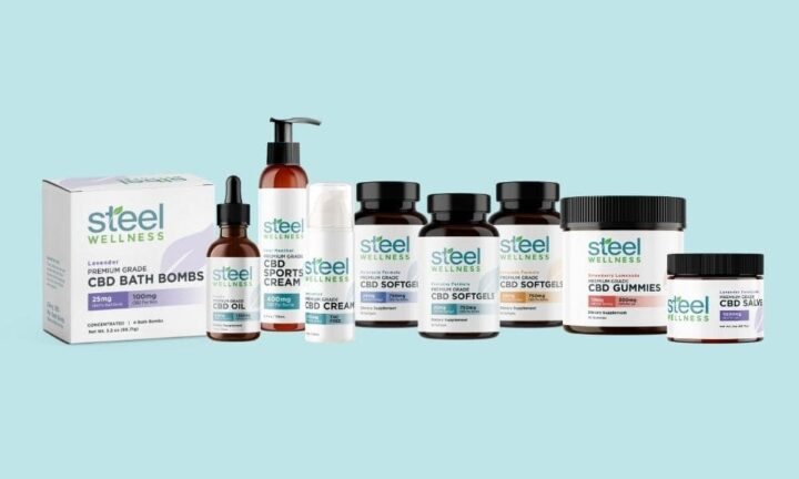 CBD Products by Steel Wellness - Oil, Edibles, Topicals